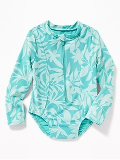 Printed Rashguard One-Piece for Toddler Girls