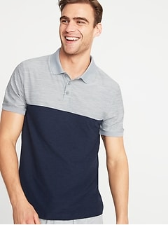 Ultra-Soft Breathe ON Color-Blocked Mesh-Trim Polo for Men