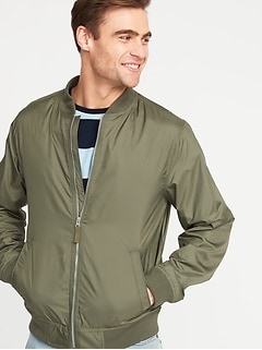 Lightweight Water-Resistant Bomber Jacket for Men