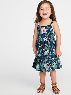 Printed Jersey Fit & Flare Dress for Toddler Girls