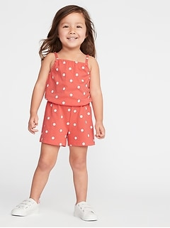 da63baa94d3 Rompers   Jumpsuits · Printed Jersey Romper for Toddler Girls