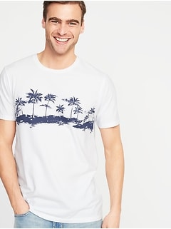 688b2325a2737 Printed Soft-Washed Tee for Men