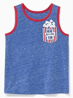 Graphic Pocket Tank for Toddler Boys