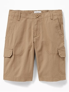Straight Ripstop Cargo Shorts for Boys