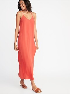 889136bc39c1 V-Neck Maxi Shift Dress for Women