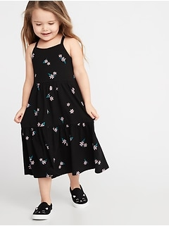 2a37ae7a85d Printed Tiered Jersey Swing Dress for Toddler Girls