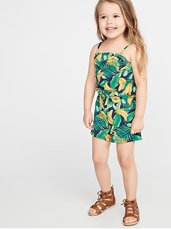 Printed Jersey Romper for Toddler Girls