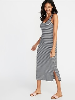Fitted Midi Tank Dress for Women