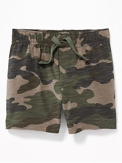 Slub-Knit Camo Shorts for Baby