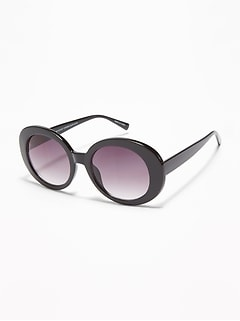 Acrylic Oval-Shaped Sunglasses for Women