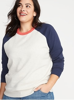 Crew-Neck Plus-Size Sweatshirt