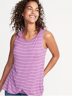 Maternity Slub-Knit Cross-Front Nursing Tank