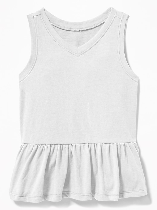 V Neck Peplum Hem Tank For Toddler Girls by Old Navy