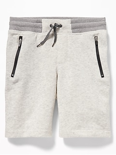 Zip-Pocket Jogger Shorts for Boys