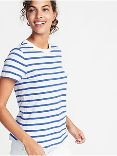 EveryWear Striped Slub-Knit Tee for Women