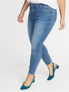 High-Rise Secret-Slim Pockets Built-In Sculpt Rockstar Plus-Size Super Skinny Jeans