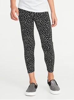 Printed Cropped Jersey Leggings for Girls