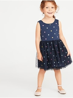 Printed Tutu Tank Dress for Toddler Girls