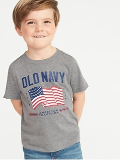 2019 Flag-Graphic Crew-Neck Tee for Toddler Boys