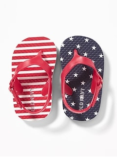 7cc961e21f2a Stars & Stripes Flip-Flops for Baby