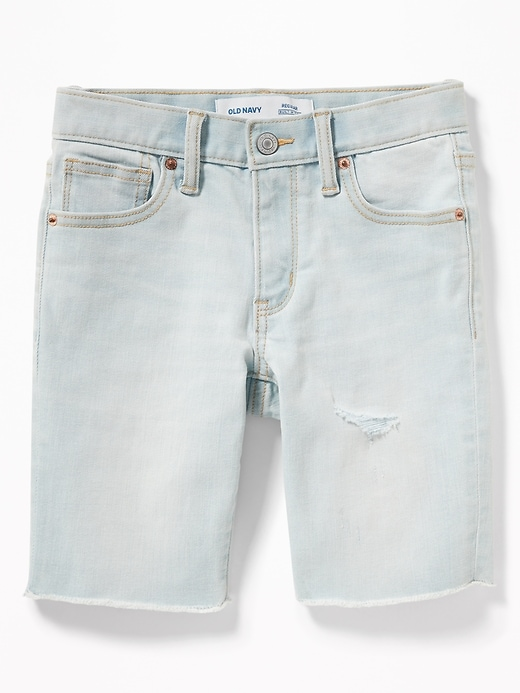 Built-In Flex Distressed Denim Cut-Off Shorts for Boys