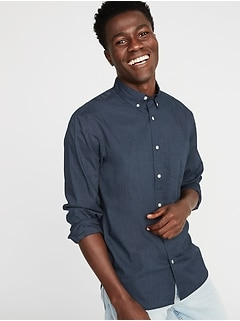 Regular-Fit Poplin Shirt for Men