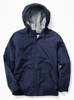 Hooded Uniform Windbreaker Jacket for Boys