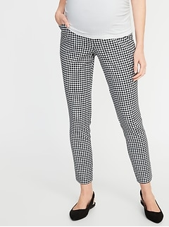 Maternity Full-Panel Patterned Pixie Pants