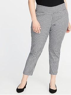 High-Rise Side-Zip Plus-Size Pants