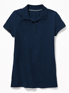 Uniform Stain-Resistant Pique Polo for Girls
