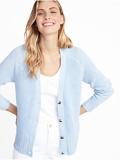 bcefe0f9c91 Shaker-Stitch Button-Front Cardi for Women