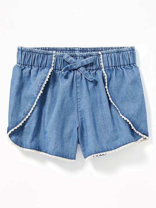 Chambray Tulip Hem Shorts For Toddler Girls by Old Navy