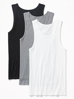 836b5654a8f93 Go-Dry Soft-Washed Rib-Knit Tanks 3-Pack for Men