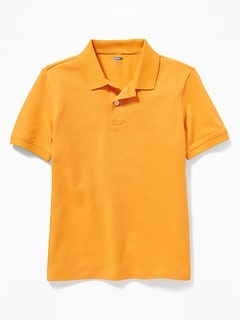Built-In Flex Pique Uniform Polo for Boys