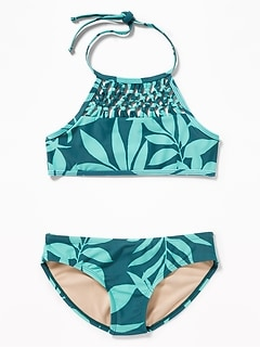 Halter Tankini Swim Set for Girls