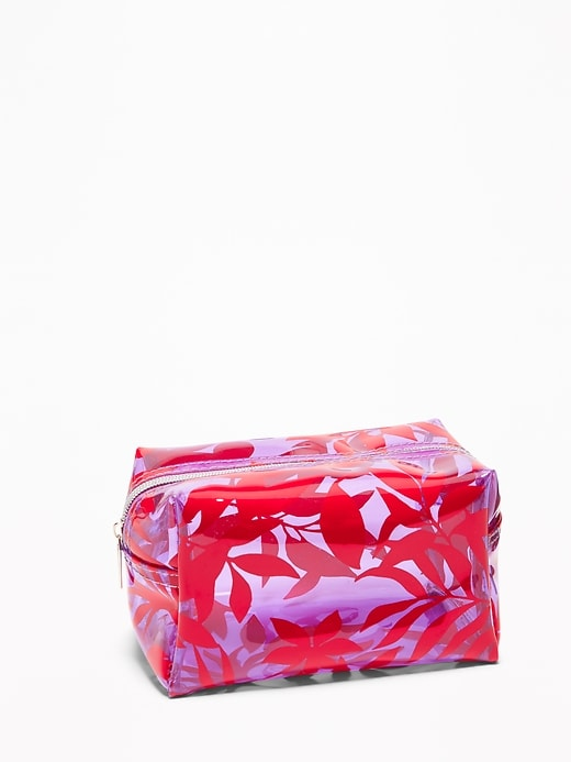 Clear Printed Cosmetic Bag for Women
