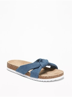 Knotted Slide Sandals for Girls