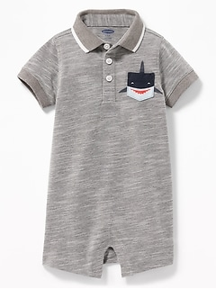 Pique Polo Pocket One-Piece for Baby