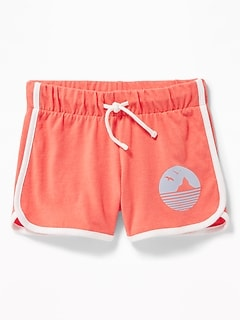 Jersey Dolphin-Hem Cheer Shorts for Girls