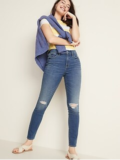 eafa874de5a High-Rise Secret-Slim Pockets Distressed Pop Icon Skinny Jeans for Women