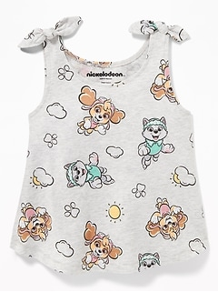 Paw Patrol™ Printed Bow-Tie Tank for Toddler Girls