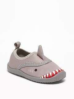 Shark Critter Swim Shoes For Toddler Boys