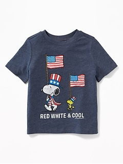 "Peanuts® Snoopy & Woodstock ""Red White & Cool"" Tee for Toddlers"