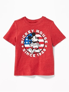 "Disney© Mickey Mouse ""Since 1928"" Americana Tee for Toddler Boys"