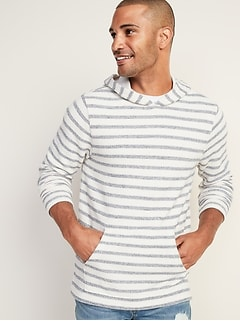 Striped Cali-Fleece Pullover Hoodie for Men