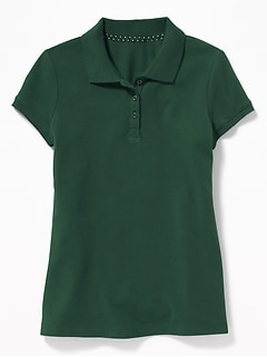 Uniform Short-Sleeve Pique Polo for Girls