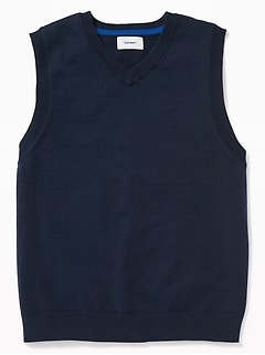 Uniform V-Neck Sweater Vest for Boys