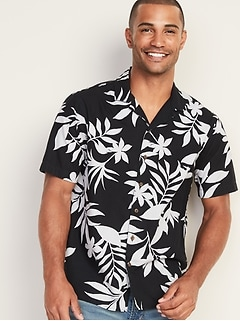 Regular-Fit Printed Getaway Shirt for Men
