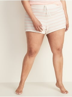 Striped French Terry Plus-Size Cali Fleece Shorts -- 3.5-inch inseam