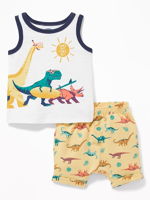 Graphic Tank & French Terry Shorts Set for Baby